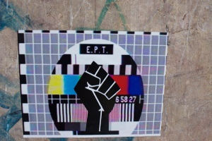 Nearly two weeks after Samaras shut down ERT, I saw this sticker.