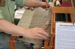... That yarn is being used to weave a shawl for a raffle.