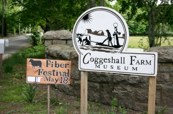 Coggeshall Farm in Bristol RI hosts the Fiber Festival every year.